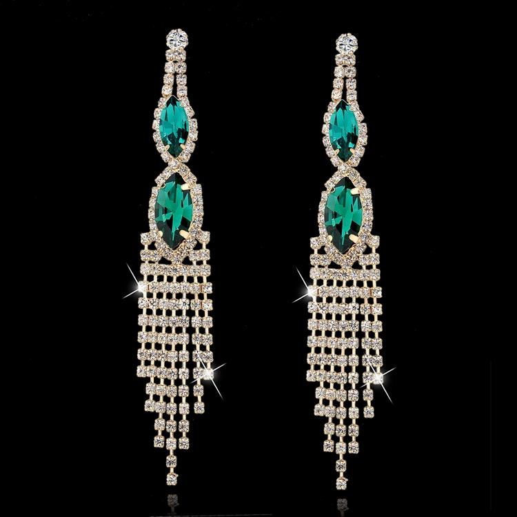 New Silver Earrings Crystal Simulated Diamond Earrings Korean Fashion Jewelry Big Stone Drop Earrings For Women SER140219(China (Mainland))