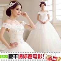 The 2014 latest wedding dress,Simple bra bride Princess lace dress