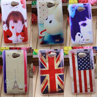 For Philips w8500 plastic cute cartoon case print drawings PC cover + gift