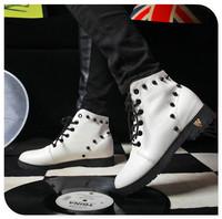 2014 spring/autumn winter snow botas ankle Senior grind arenaceous boots white blalk women shoes Rubber non-slip soles free ship