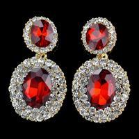 New Arrival! 2014 Summer Romantic Glass Rhinestone Earrings For Evening Dress