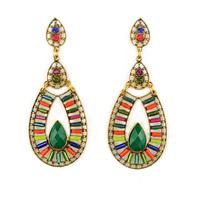 ER-022925 2014 Fashion Vintage Bohemian Resin Zinc Alloy Earrings For Women