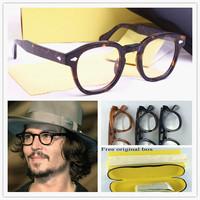 johnny depp glasses top Quality brand round glasses frame Vintage spectacle optical eyeglasses frame glasses frame