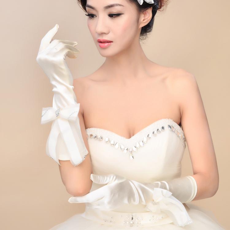 [해외]2014 새로운 여자 웨딩 드레스 손가락 장갑 아동 Bowknot 드..