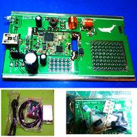 100KHz-1.7GHz full band UV HF RTL-SDR USB Tuner Receiver DIY KITS w U/V antenna Free shipping