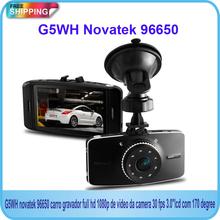 Free Shipping!! G5WH Novatek 96650 carro gravador full hd 1080p de video da camera 30 fps  170 degreee+Motion Detection+G-Sensor(China (Mainland))