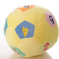 Free shipping!  Color birthday gift children's cognitive Soccer World Cup sensory colorful pillow plush toys for children