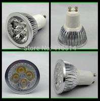 Free shipping 5W Gu10 led bulb Epistar chip high power led 550lm AC85-265V Led spot light Gu10 spotlight white warm white