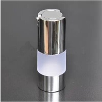 Q1 Capacity 15ml frosted airless bottle with silver vacuum pump, lotion bottle with silver line used for Cosmetic Container