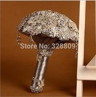 2014 Fashion 100% high handmade Diamond and alloy Luxurious wedding bouquet  bride bouquet wedding accessories