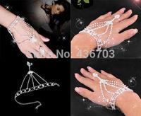 Hot Sale Asymmetric Mens fashion Women Hamsa Fatima Finger Ring Slave Chain Hand Harness