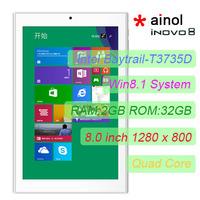 "Original 8"" Ainol NOVO8 iNOVO8  Intel Z3735D Windows 8.1 Tablet PC IPS 1280x800 Screen 2GB 32GB Dual Camera 5.0MP HDMI Bluetooth"