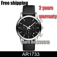 2014 men's Watch Genuine Leather strap AR1733 AR1734 AR1735 AR1736 AR1737 mens watches top brand luxury Sports Watch Chronograph