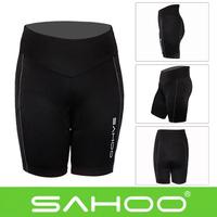 SAHOO Outdoor Women Mountain Bike Bicycle Shorts Cycling Pad Silicone Underwear Black S-XL Comfortable