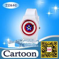 top brand willis Marvel Super Hero Captain America Boy Man Metal Silicone Watch boys girls kids cartoon waterproof Wrist watch