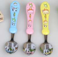 cute cartoon children spoon stainless steel spoon baby spoon 6pcs/lot free shipping