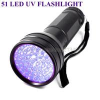 Ultra Violet 51 LED UV Blacklight Torch Scorpion Detector Finder Black light Flashlight