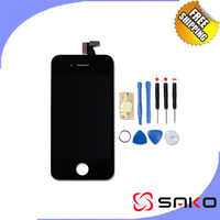 High Quality original 4s lcd Touch Screen Digitizer highscreen Assembly for Iphone 4s lcd Black White color Free Shipping