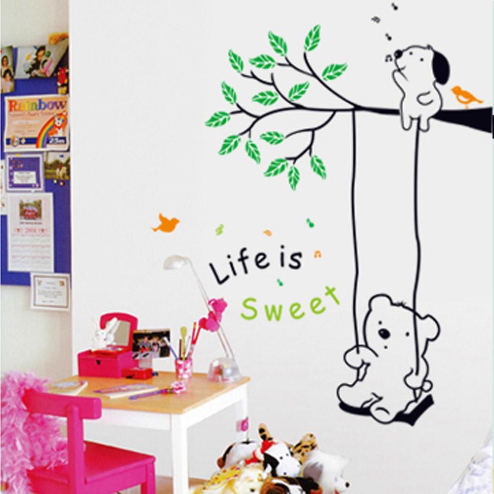 Online kopen wholesale schattige beer behang uit china schattige beer behang groothandel - Muur kamer kind ...