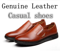 2014 new men's genuine leather casual shoes, Islam, business flat driving shoes, free shipping