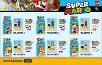 Wholesale 60pcs Building Bricks Blocks Anime Movie Model Super Mario Action Figures Minifigures children toys Christmas Gifts