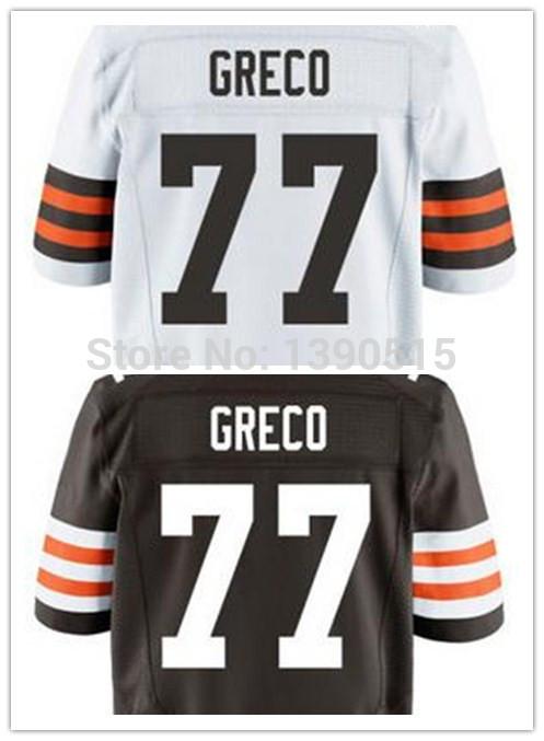 Cheap Cleveland Football Jersey #77 Greco John Jersey American Football Men's Jerseys Cheap Rugby 2014 Free Shipping(China (Mainland))
