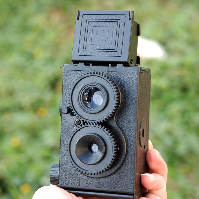Free Shipping 3Sest DIY Adoult LOMO Camera / Science Vo1.25 Twin Lens Reflex TLR Camera Holga(China (Mainland))