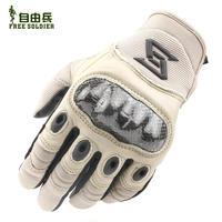advanced carbon fiber armor outdoor tactical gloves full finger gloves military fans turtle leather gloves