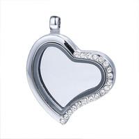 Wholesale 5pcs/Lot New 30mm Heart Magnetic Floating Locket, Openable Glass Locket Living Locket Origami Owl Lockets