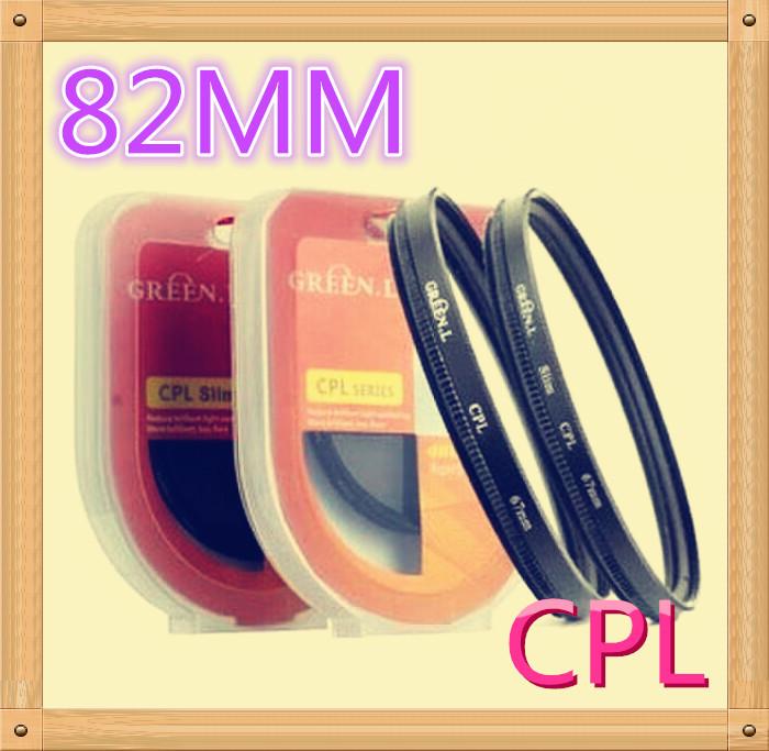 Free shipping + tracking number Green.L 82mm Circular Polarizing C-PL CPL PL-CIR for Canon Nikon Pentax olymups(China (Mainland))