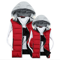 Men's Autumn&Winter 2014 New Fashion Hooded Sleeveless Casual Thick Vests.