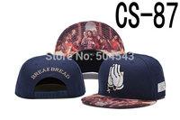 2014 New Cayler And Sons Snapback Cap BREAK BREAD Print Hat Navy Blue CS-87