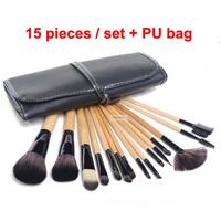 Professional 15pcs Makeup Brushes kit styling tools women Make-up maquiagem Wool Brand Make Up Brush cosmetics set free shipping