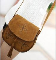 2014 tassel small bags mini messenger bag new arrival vintage messenger bag women shoulder bag 1colors free shipping
