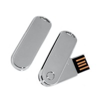 USB flash drive 512GB to 64gb mini metal swivel usb flash drive silver memory disk gift usb stick U disk 64g   200pcs/lot