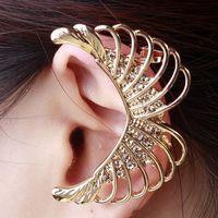 Fashion punk style long   wings of the Angel Stud Earrings,women ear cuff