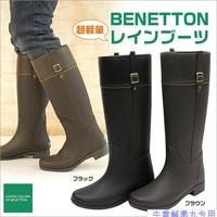 High fashion women's rain boots rainboots horse boots light 3 rubber shoes