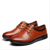 2014 new men's genuine leather casual shoes, Islamic the fashion business driving shoes, free shipping