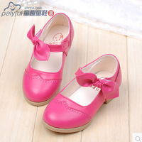 Shoes 2014 personality bow leather girls Moccasins shoes single shoes fashion and comfortable free shipping