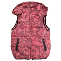 New 2014 spring autumn winter print children's vest for baby girl down children vest girls size 130-150 for 6y, 8y, 10y girl