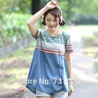 2014 Summer New Women Korean Women Loose Short-sleeved T-shirt Long Section Bottoming Shirt