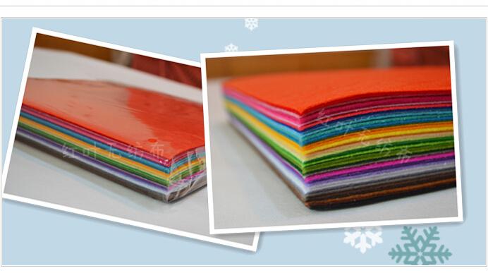 Free Shipping 30x30cm 40pcs Lot DIY Polyster Felt Non Woven Fabric(China (Mainland))