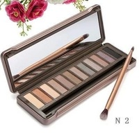 12 colors eye shadow palette with double brush high quality N 2 makeup