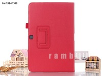 Folio wallet tablet case flip folding stand pu leather case for Samsung Galaxy Tab 4 10.1 T530