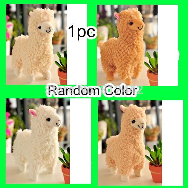1pc 22cm Japan Kawaii Cute Japanese Style Alpaca Plush Toy Soft Sheep Stuffed Animal Doll For Girl Birthday Gift Kid Brinquedo(China (Mainland))