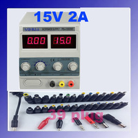 YIHUA 1502DD For Mobile Phone15V 2A Adjustable Regulated DC Power Supply with LED Display + 39 Free Plugs