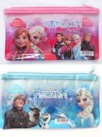 1x  clear PLASTIC Frozen School Pencil Stationey Case Bag Storage kids GIRL children gift