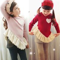 Wholesale 5set/lot 2-7Age spring autumn winter children clothing girls long sleeve t shirts+pants set children suit kids clothes