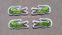 100 pair of  ( 100pcs left+100pcs right=200pcs) iron on patch patchs Crocodile Alligator Applique Badge badges
