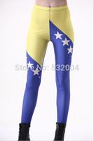 YWNN New Arrival Fashion 3D Print Bosnia Sexy Girls Legging High Elastic Slimming Mention Hip Plus size Fitness  women leggings